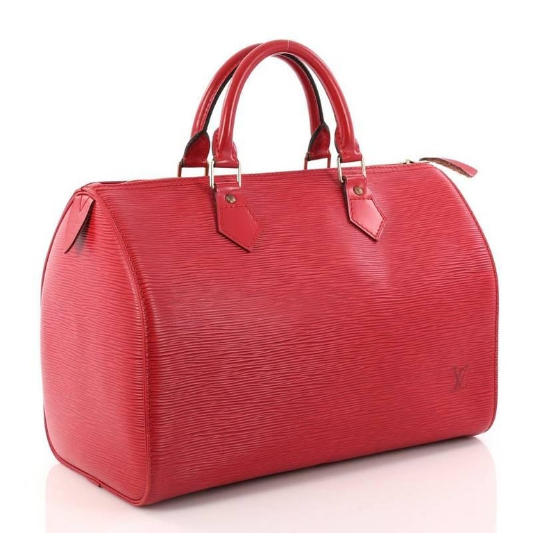 7fe0114790 Red Louis Vuitton Speedy Handbag Epi Leather 30 For Sale
