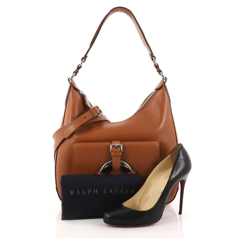 c2f565ec72c4 Ralph Lauren Collection Stirrup Hobo Calfskin Leather Small at 1stdibs