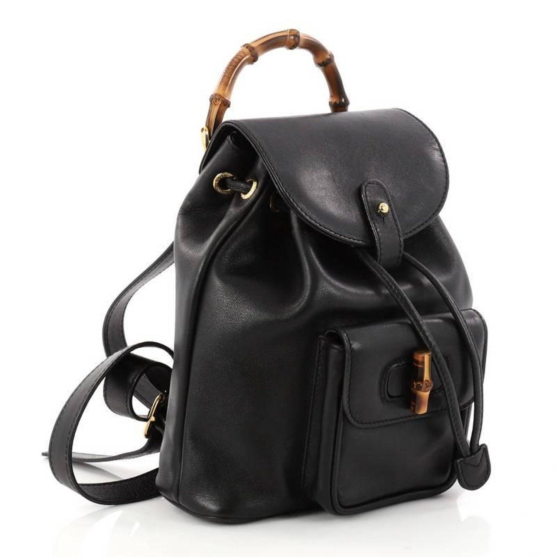 Gucci Bamboo Tassel Backpack Leather Mini at 1stdibs a7e3b2d009