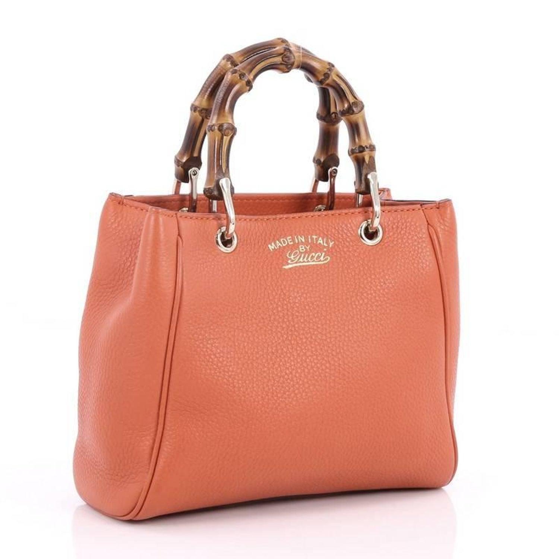c87b428dea3c Gucci Bamboo Shopper Tote Leather Mini at 1stdibs