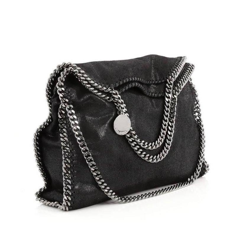 41ae403b290f8 Black Stella McCartney Falabella Fold Over Bag Shaggy Deer For Sale