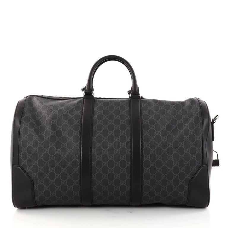 8dd37dfc7b1 Gucci Convertible Duffle Bag GG Coated Canvas Large In Excellent Condition  For Sale In New York