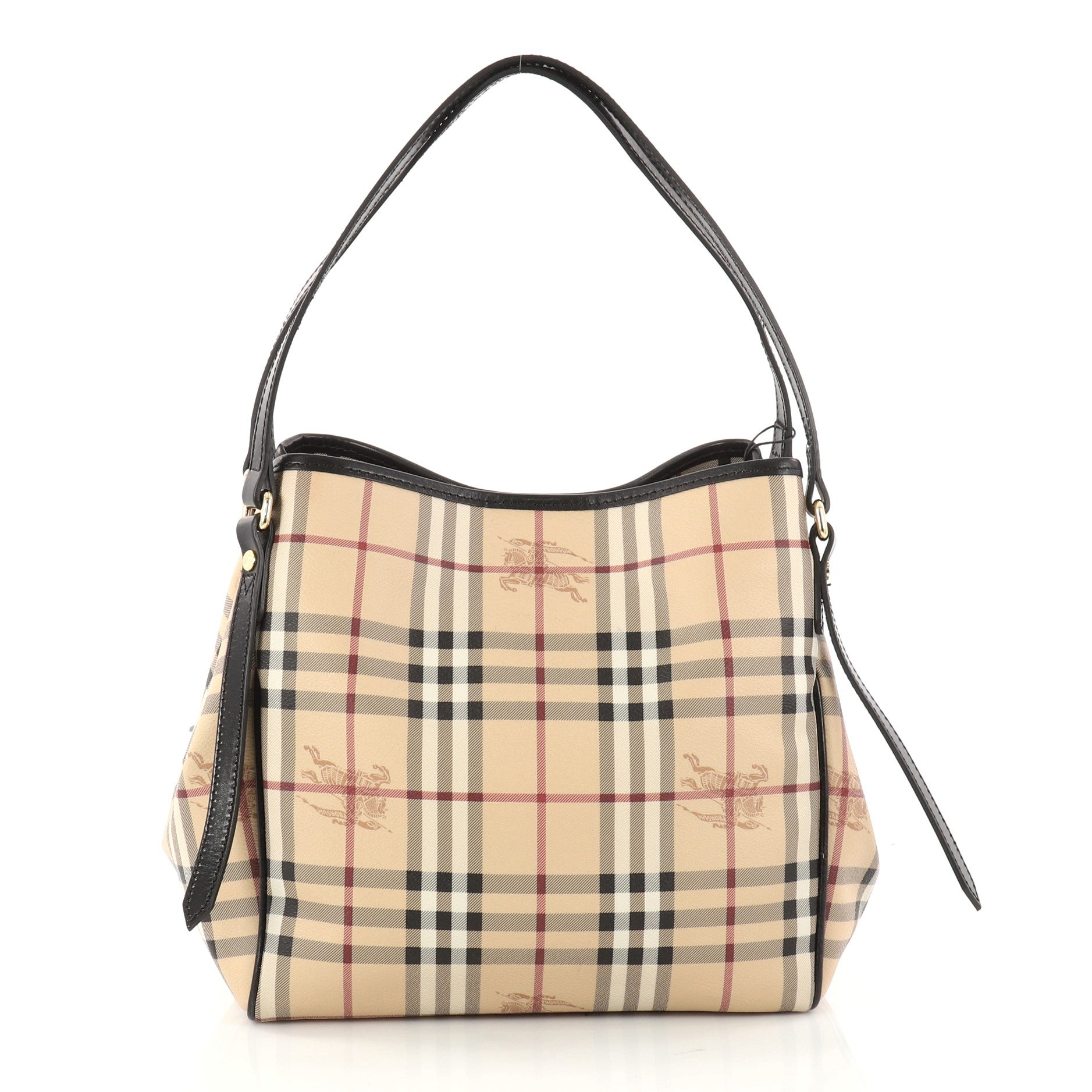 db9a2ade1057 Burberry Canterbury Tote Haymarket Coated Canvas Small at 1stdibs