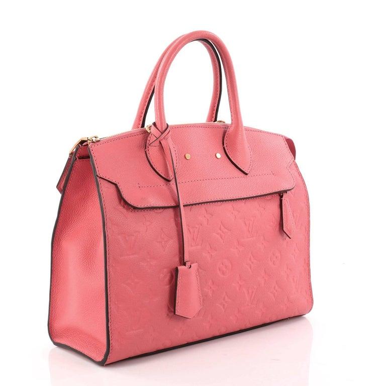 Pink  Louis Vuitton Pont Neuf Handbag Monogram Empreinte Leather MM For Sale