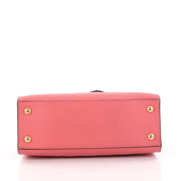 Women's  Louis Vuitton Pont Neuf Handbag Monogram Empreinte Leather MM For Sale
