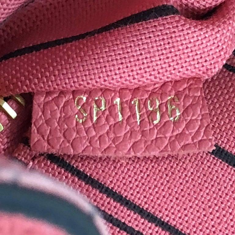 Louis Vuitton Pont Neuf Handbag Monogram Empreinte Leather MM For Sale 2