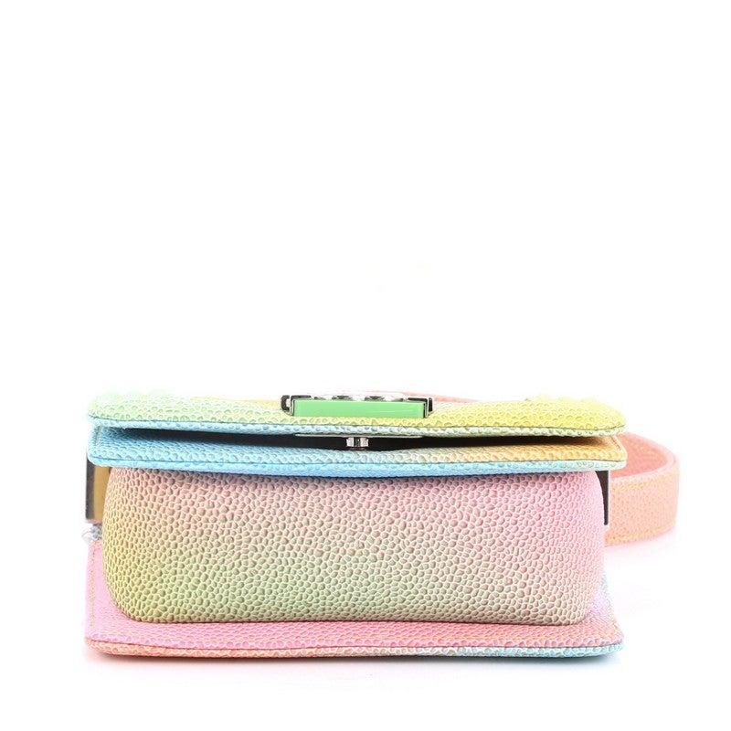 350195e085cd57 Chanel Cuba Rainbow Boy Flap Bag Quilted Painted Caviar Mini at 1stdibs