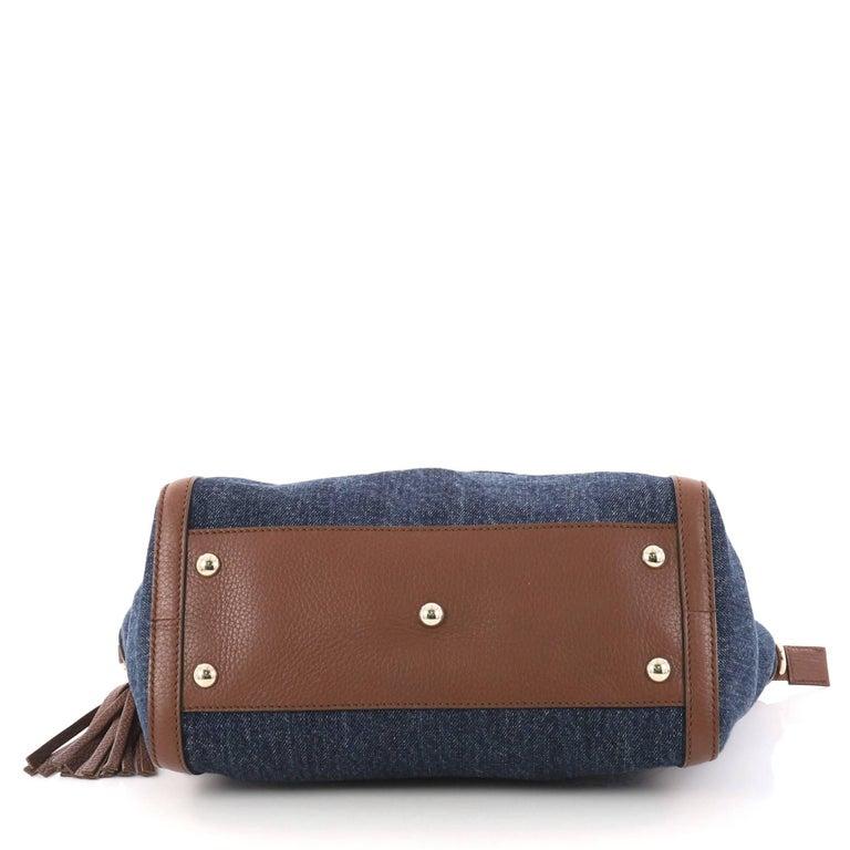 63dc95353271 Gucci Soho Convertible Top Handle Bag Denim Small at 1stdibs