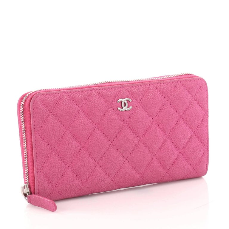 d973d733f07d50 Chanel Zip Around Wallet Quilted Caviar Long At 1stdibs