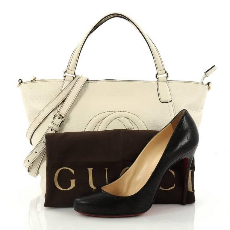 6018c4d4dc4f This authentic Gucci Soho Convertible Top Handle Bag Leather Small is a  fresh casual-chic