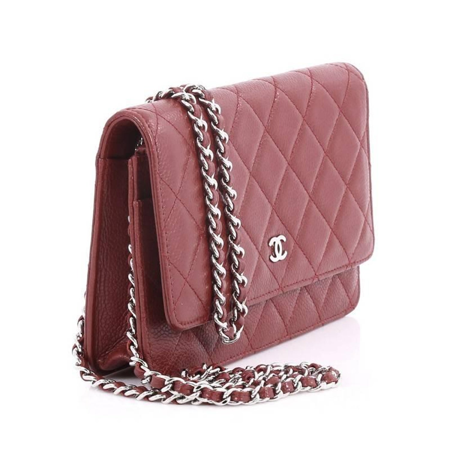 1ca8c2031befbb Chanel Wallet on Chain Quilted Caviar at 1stdibs