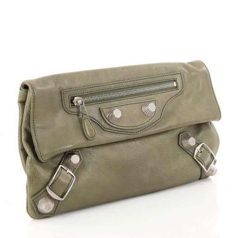 Brown Balenciaga Envelope Clutch Giant Studs Leather For Sale 1fbb018c9