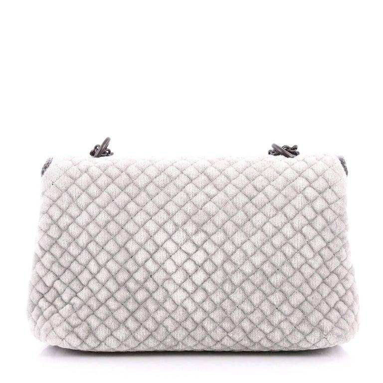 Bottega Veneta Olimpia Crossbody Bag Intrecciato Velvet Baby  In Excellent Condition For Sale In New York, NY