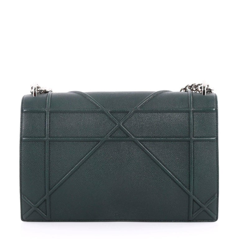 Christian Dior Diorama Flap Bag Grained Calfskin Medium In Excellent  Condition For Sale In New York b73783c6fc382