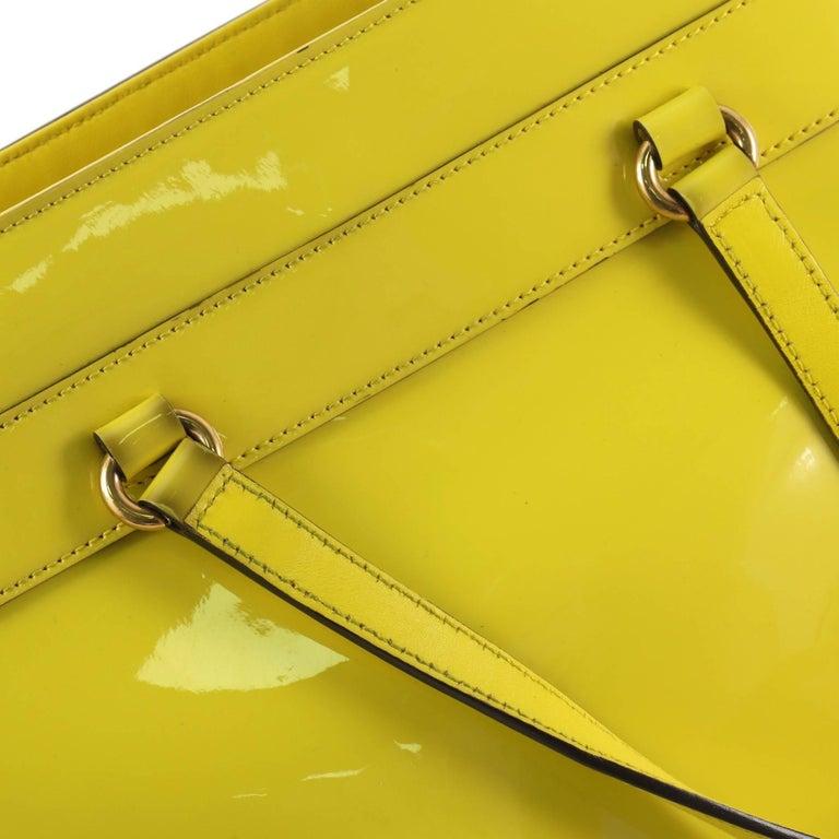 67efdc530cbfc4 Gucci Bright Bit Convertible Tote Patent Medium For Sale 2