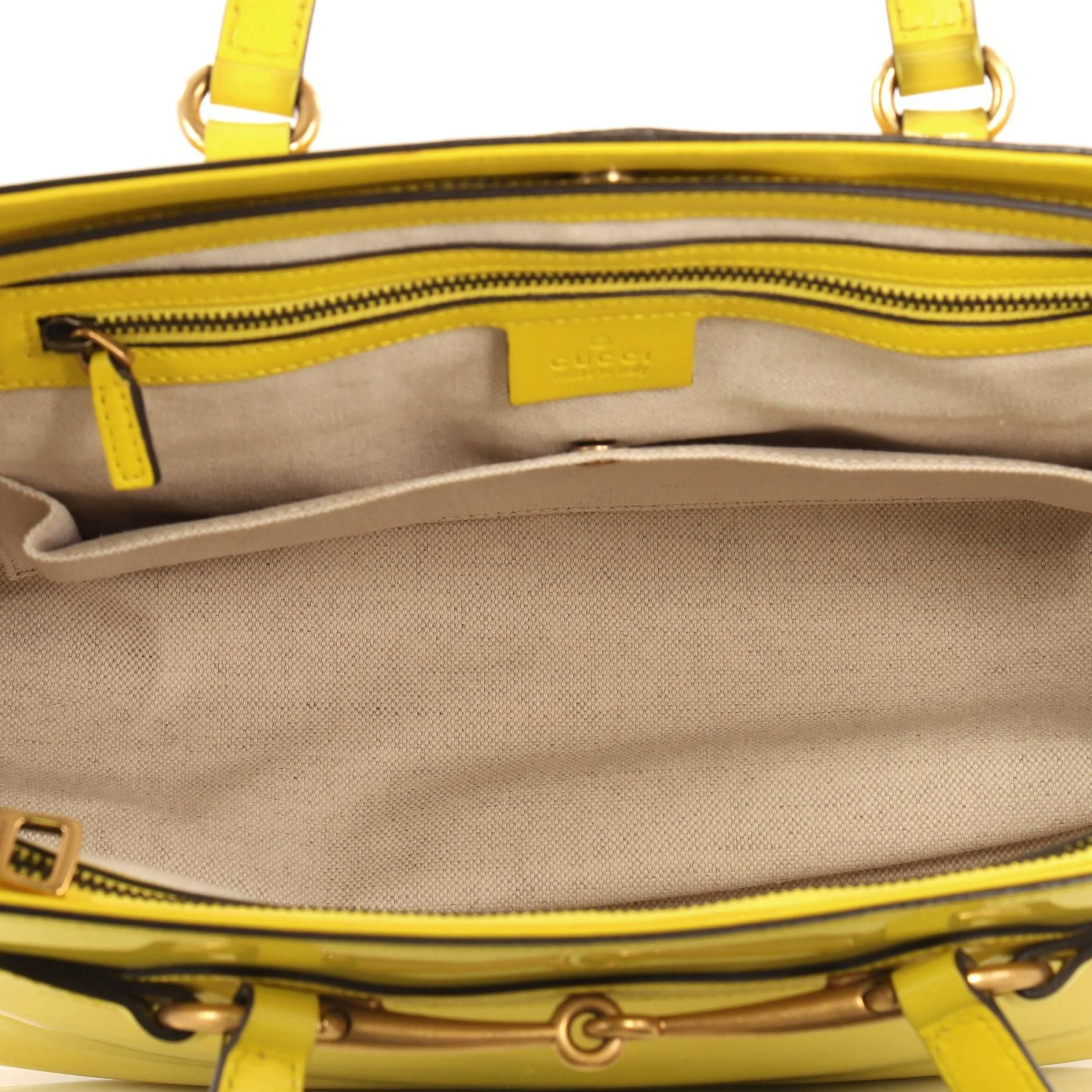 f0198e7142ea51 Gucci Bright Bit Convertible Tote Patent Medium at 1stdibs