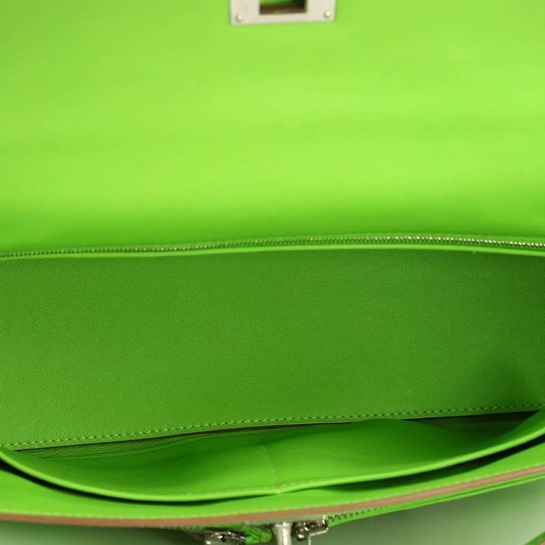 84ca73a9a3fd Hermes Kelly Lakis Handbag Granny Swift with Palladium Hardware 32 For Sale  3