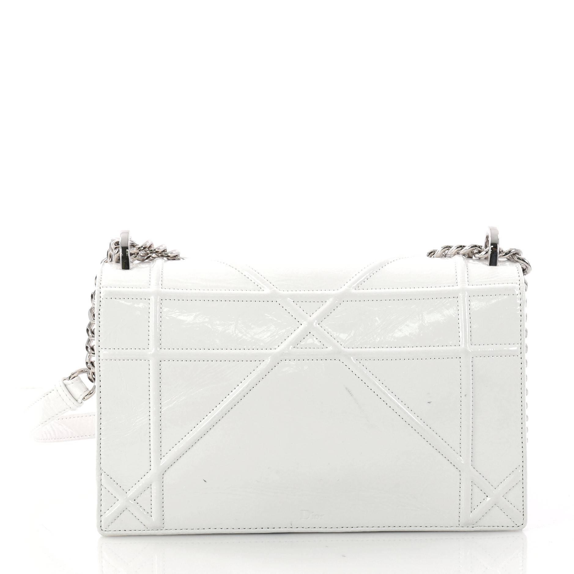 Dior Diorama Clasp Flap Bag Crinkled Lambskin Medium 3vSwy