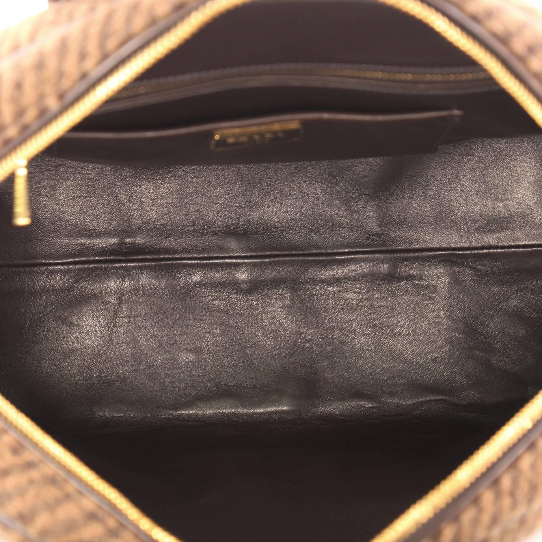 Prada Vichy Vintage Bowler Bag Tweed Large WZOkQ
