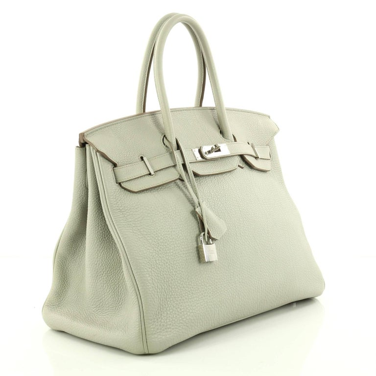 785d74d6d5cf Beige Hermes Birkin Handbag Gris Perle Togo with Palladium Hardware 35 For  Sale