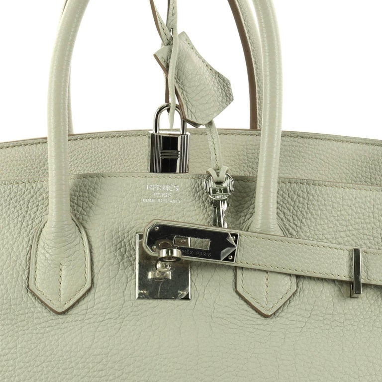 83fb1ee6ca19 Hermes Birkin Handbag Gris Perle Togo with Palladium Hardware 35 For Sale 1