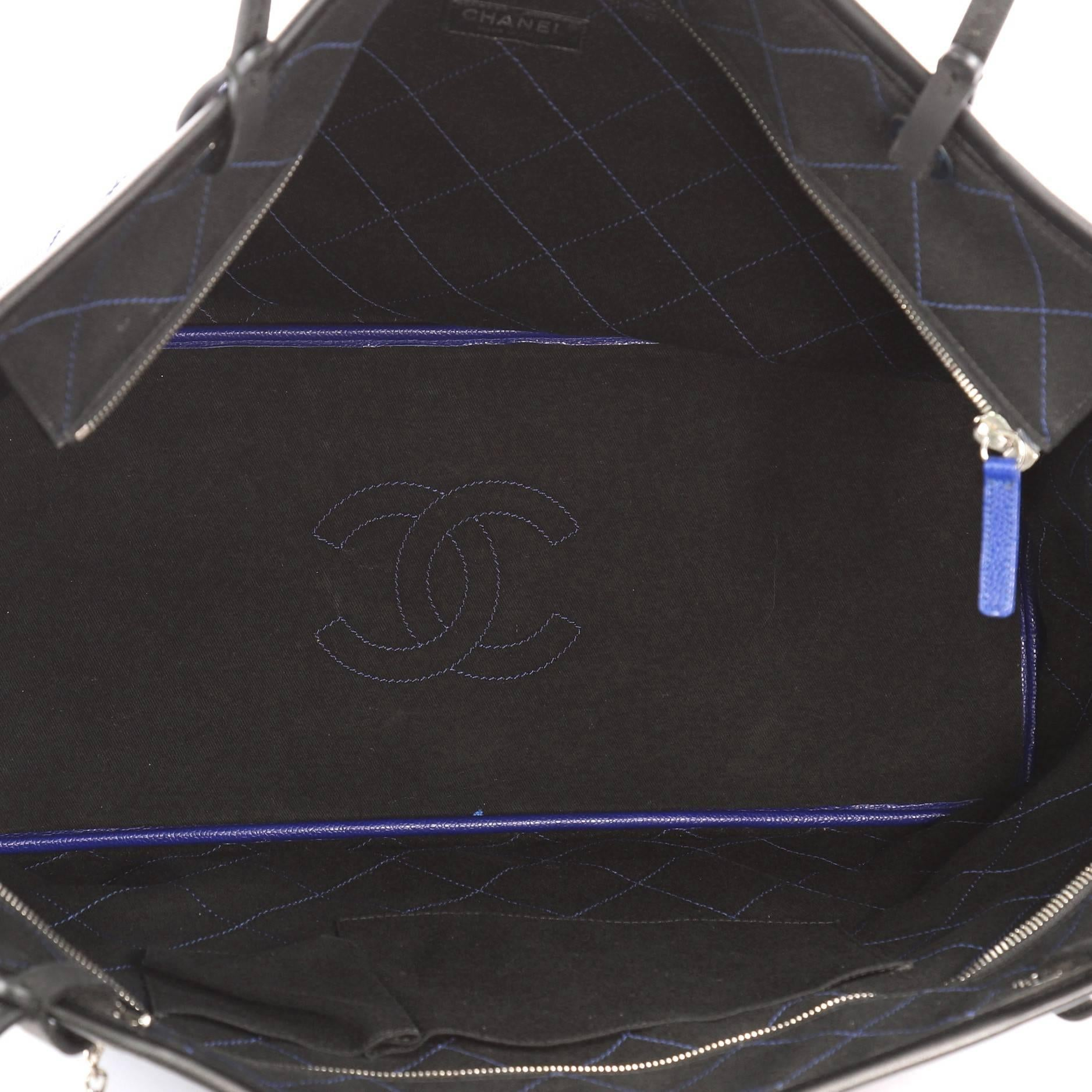 19a869e06d5764 Chanel Fever Tote Quilted Caviar XL at 1stdibs