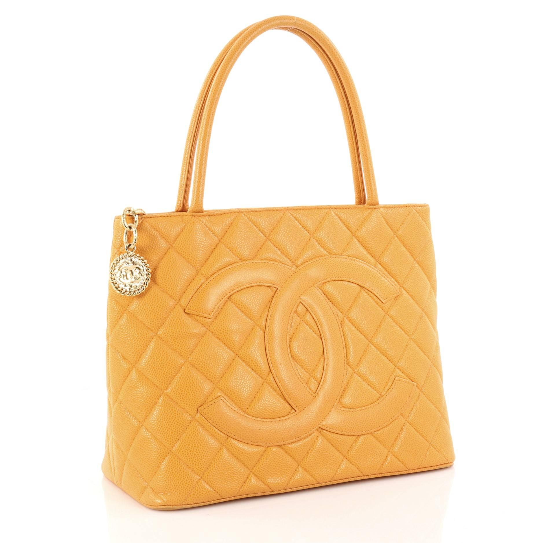 58ee862c1794 Chanel Medallion Tote Quilted Caviar at 1stdibs