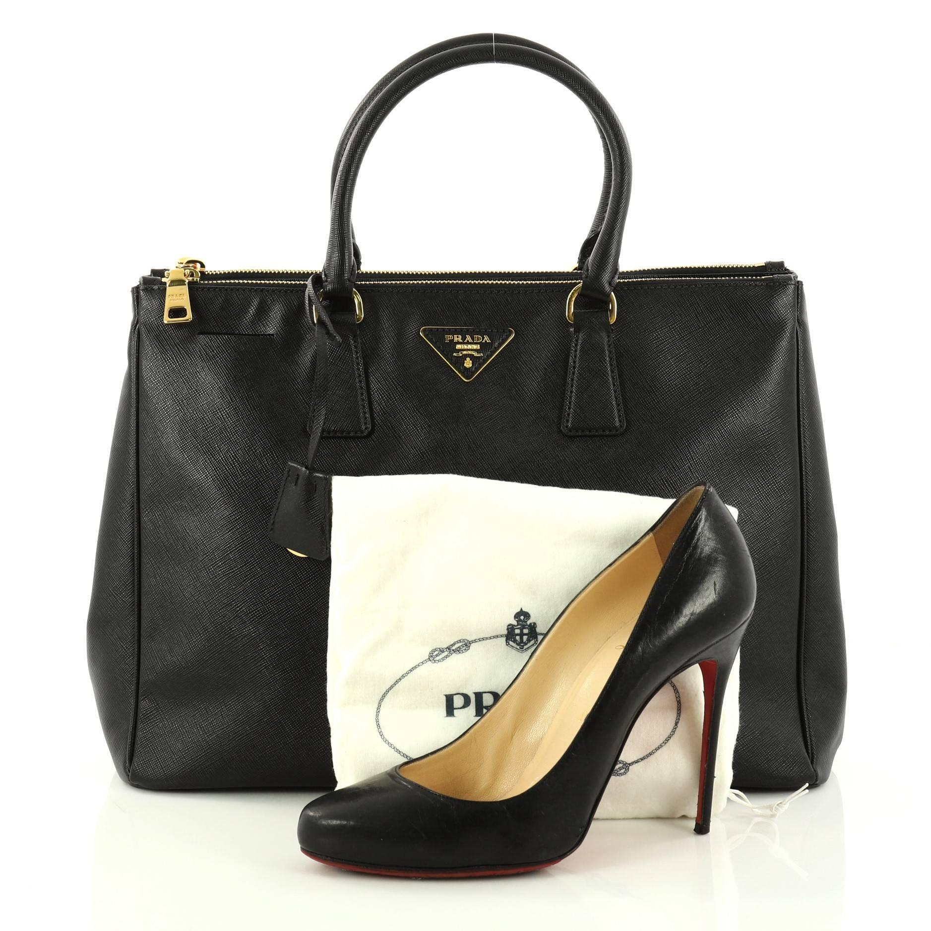 ... real this authentic prada double zip lux tote saffiano leather large is  perfect bag to complete e1292226bf05d