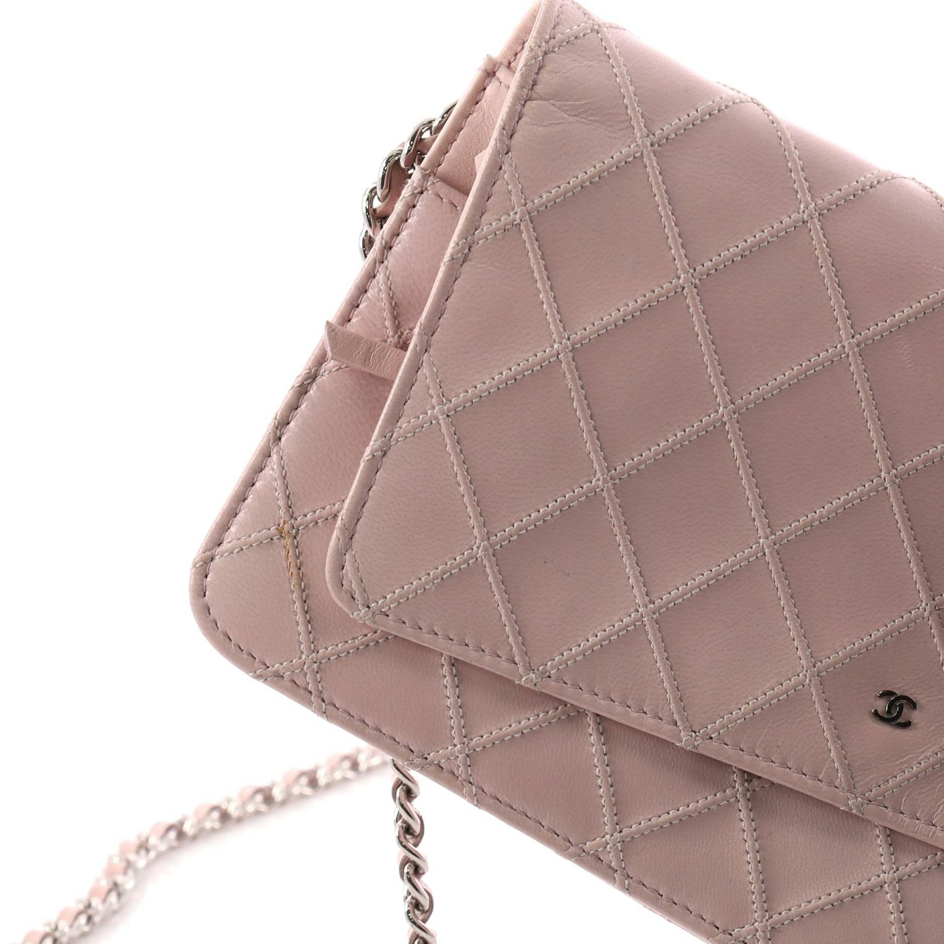 eacfd93e51be Chanel Diamond Stitch Wallet on Chain Quilted Lambskin at 1stdibs