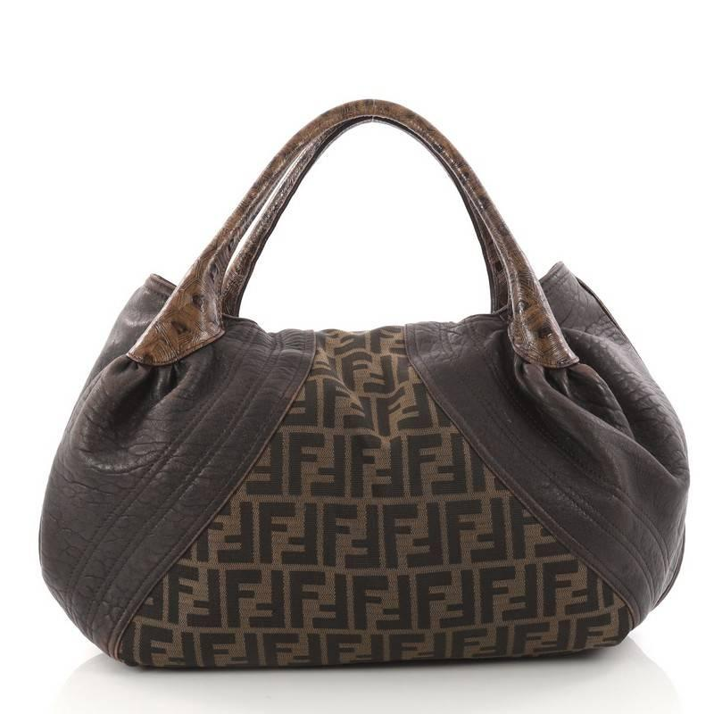 9669fa0cc0e1 ... switzerland fendi tortoise spy bag zucca canvas and leather in good  condition for sale in new