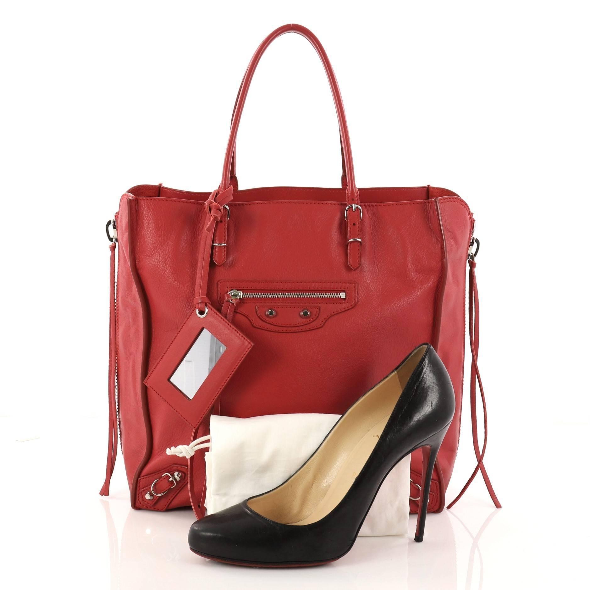 1f66d680f7394 Balenciaga Papier A4 Zip Around Classic Studs Handbag Leather Mini at  1stdibs