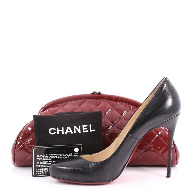 b09906bba4fe The authentic Chanel Timeless Clutch Quilted Patent is the perfect piece to  pair with almost any