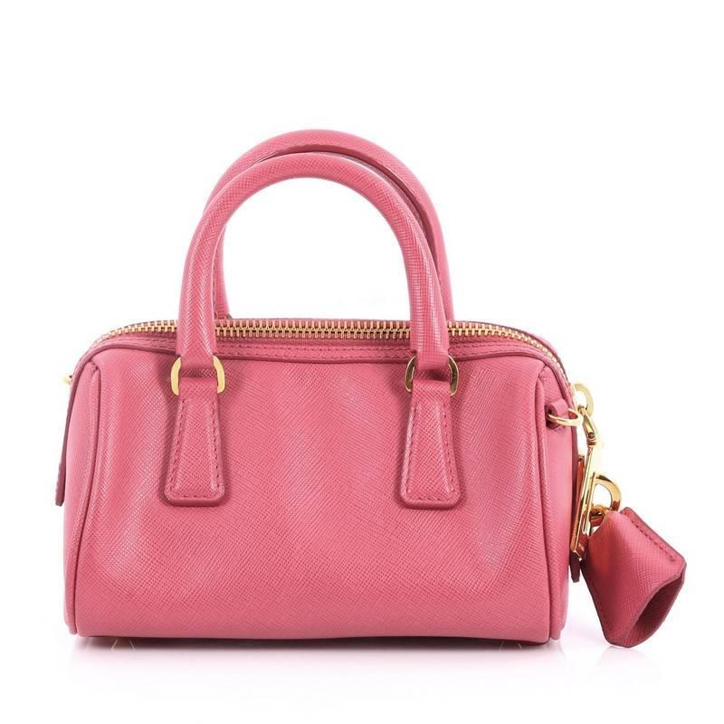 Prada Lux Saffiano Leather Mini Convertible Boston Bag gY1I3LH51