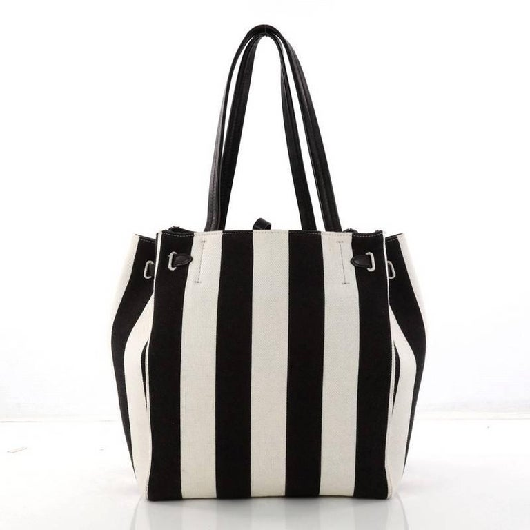 e2430843732f Celine Phantom Tie Cabas Tote Canvas Small In Good Condition For Sale In New  York