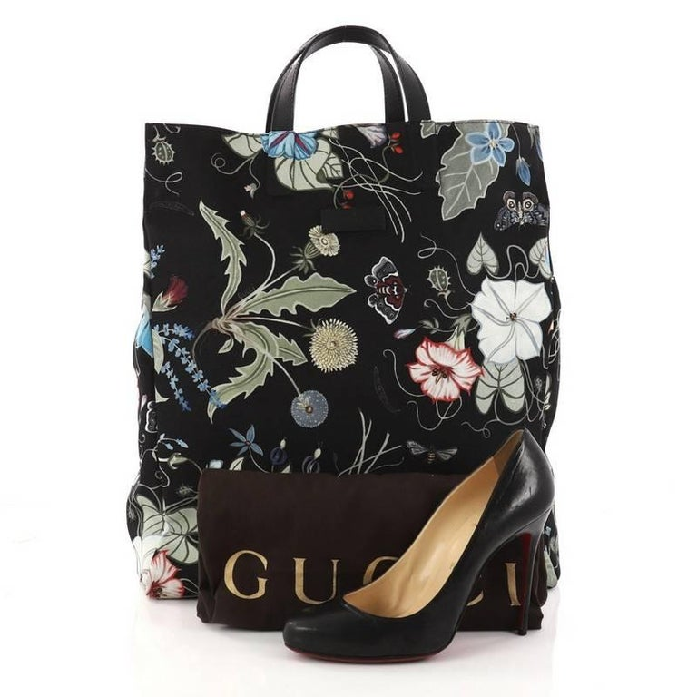 302e406b88f This authentic Gucci G-Active Knight Tote Flora Canvas Tall is a perfect  tote for