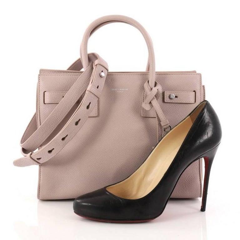 This Authentic Saint Laurent Sac De Jour Souple Handbag Leather Baby Encapsulates The Brands Distinctive