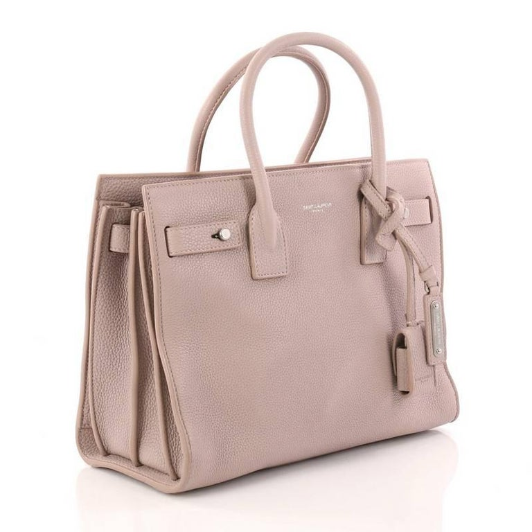 deefc775eccf Beige Saint Laurent Sac de Jour Souple Handbag Leather Baby For Sale