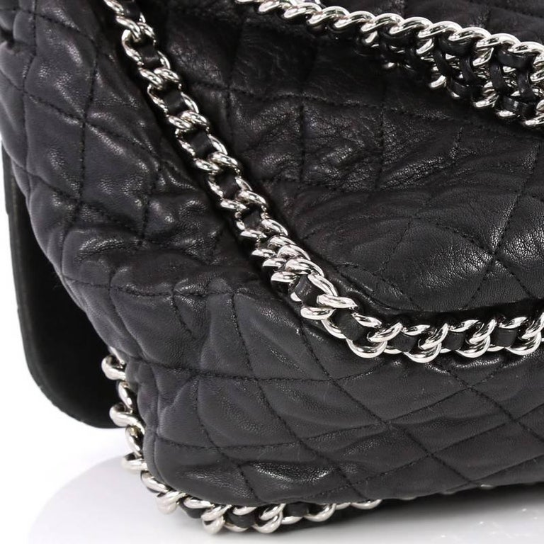 a8add94afd1ec6 Chanel Chain Around Flap Bag Quilted Leather Maxi For Sale 1