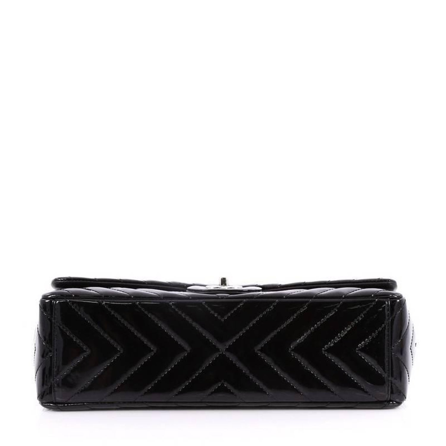 97143d65d26226 Chanel Classic Single Flap Bag Chevron Patent Maxi at 1stdibs