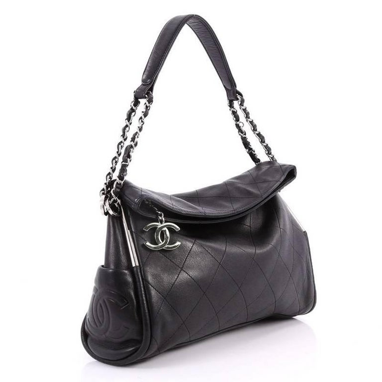 1141083fcc3469 Black Chanel Ultimate Soft Hobo Quilted Leather Medium For Sale