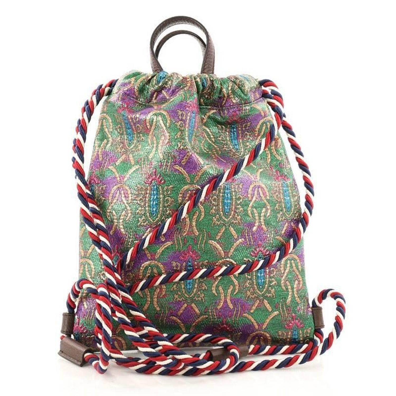 1e8521c921c Gucci Animalier Drawstring Backpack Brocade Small at 1stdibs
