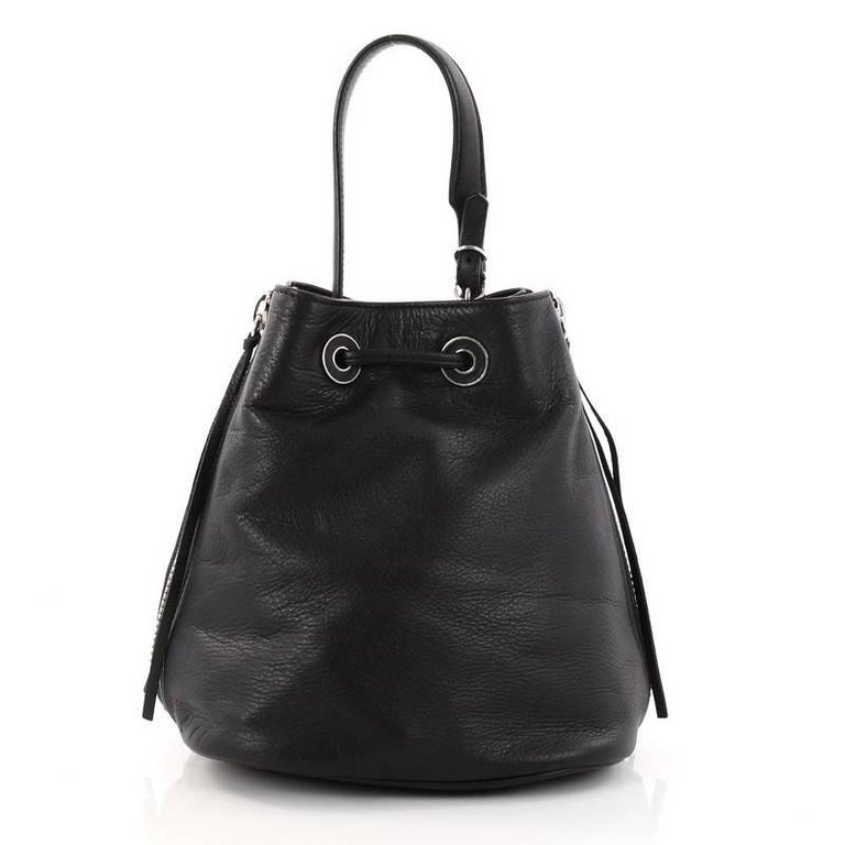 Balenciaga Papier Plate Bucket Bag Leather Xs In Good Condition For New York