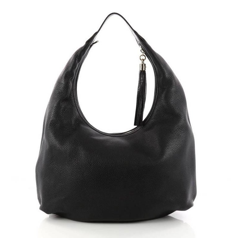 7ec36f549e1368 Gucci Soho Hobo Leather Large In Good Condition For Sale In New York, NY