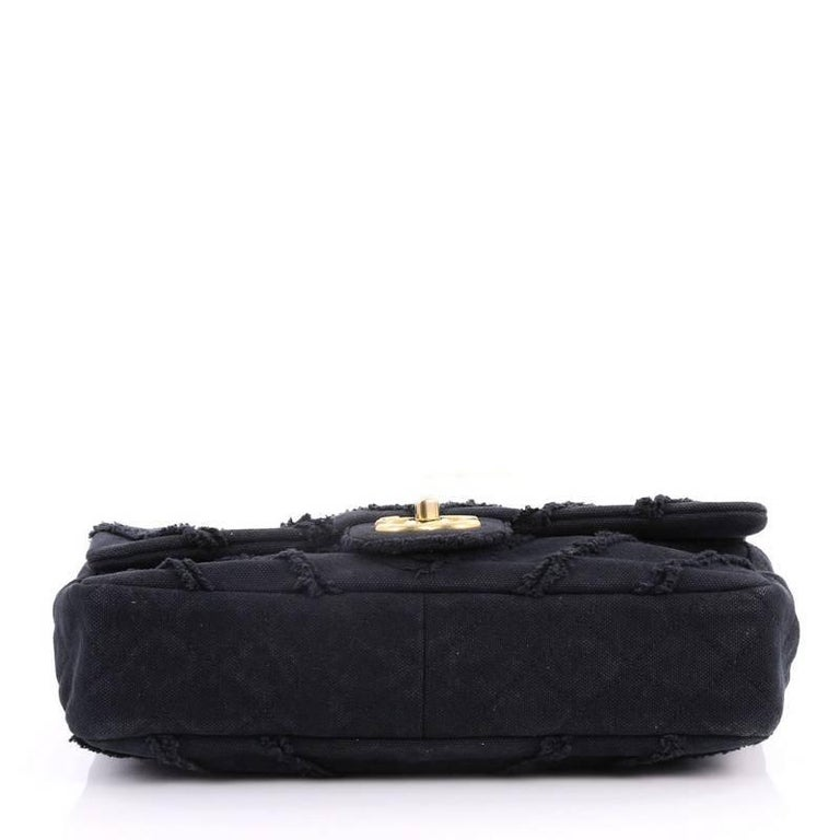 294c869f5323 Women's or Men's Chanel CC Flap Bag Chevron Canvas Patchwork Medium For Sale