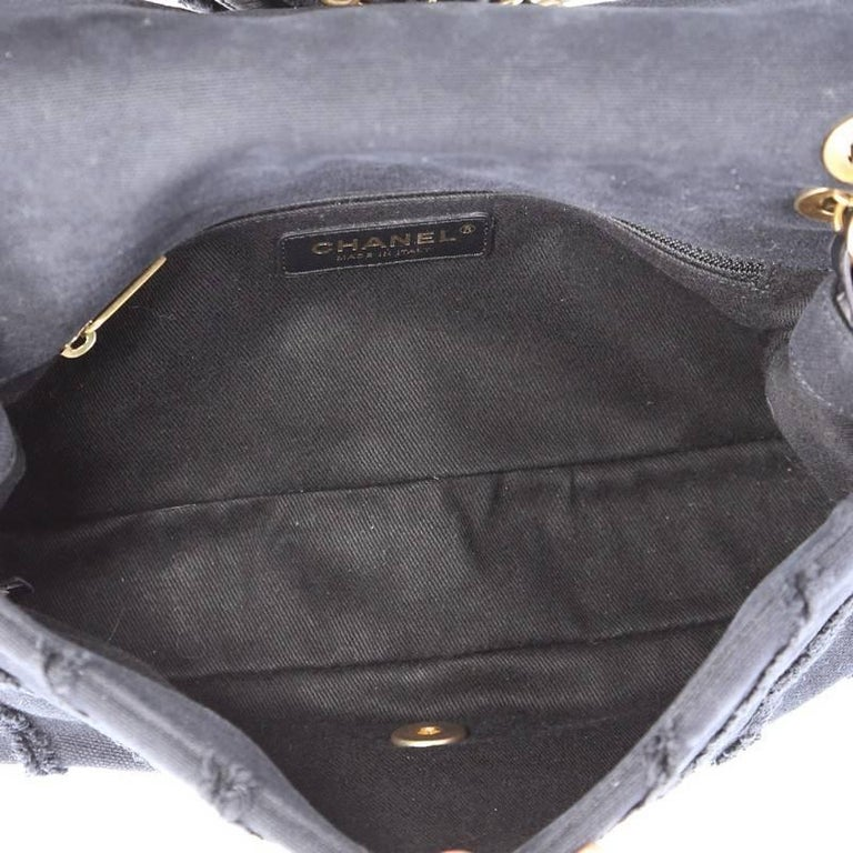 1f07128a2497 Chanel CC Flap Bag Chevron Canvas Patchwork Medium For Sale 1