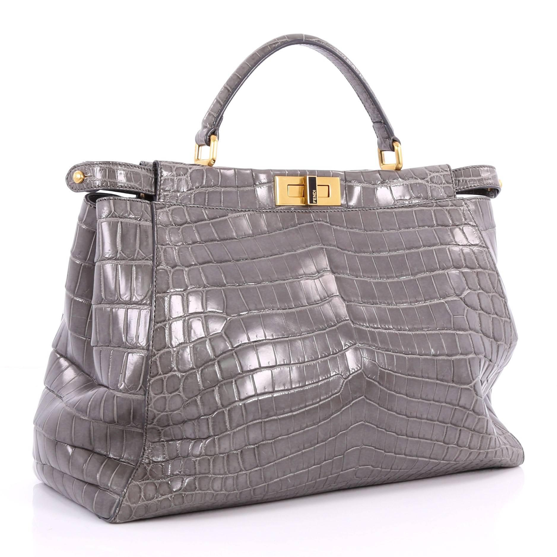 3404e5007c63 Fendi Peekaboo Handbag Crocodile Large at 1stdibs