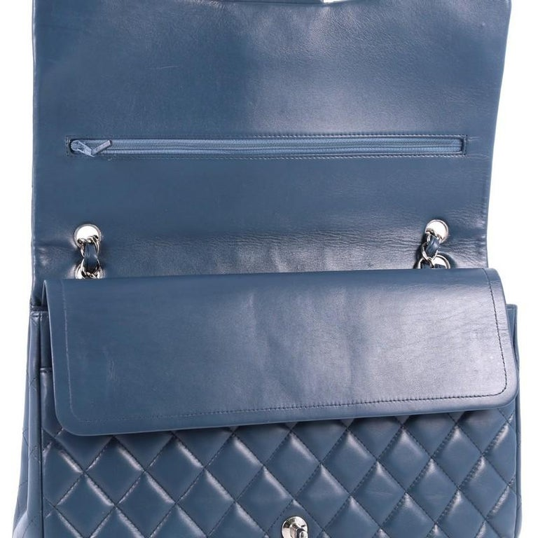 Chanel Classic Double Flap Bag Quilted Lambskin Maxi For Sale 1