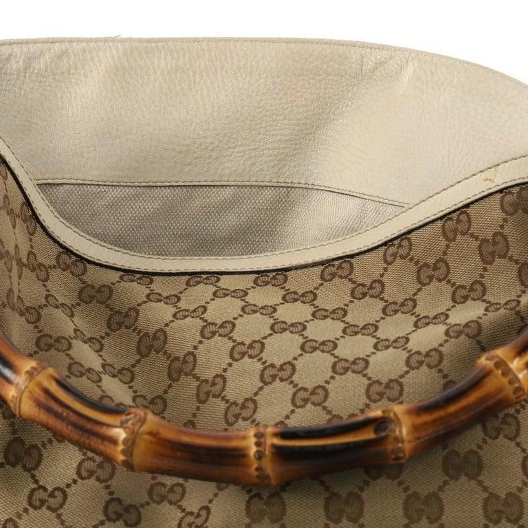3bdbcc489de69e Gucci Diana Bamboo Shoulder Bag GG Canvas Medium For Sale 3