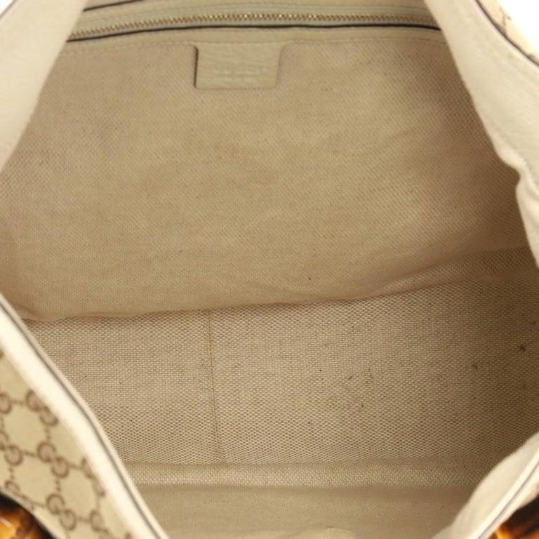 a6e640e1c02cc5 Gucci Diana Bamboo Shoulder Bag GG Canvas Medium For Sale 4