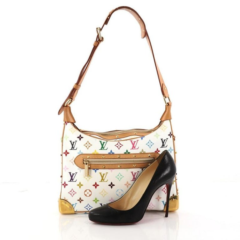 This authentic Louis Vuitton Boulogne Handbag Monogram Multicolor showcases  a stylish and stunning design perfect for d20e44ca30